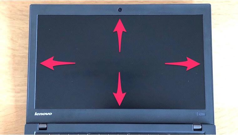 ThinkPad X250:液晶画面