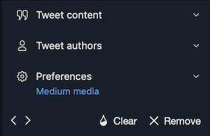 TweetDeck:カラムのメニュー(基本系)