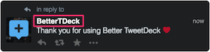 BetterTweetDeck:@Username