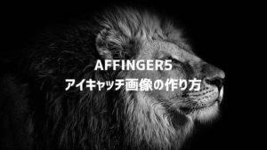 AFFINGER5(アフィンガー)のアイキャッチ画像をブログカードにぴったり合わせる作成方法