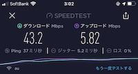 クラウドWi-Fi:通信速度(3時台)