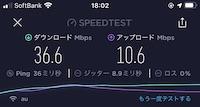 クラウドWi-Fi:通信速度(18時台)