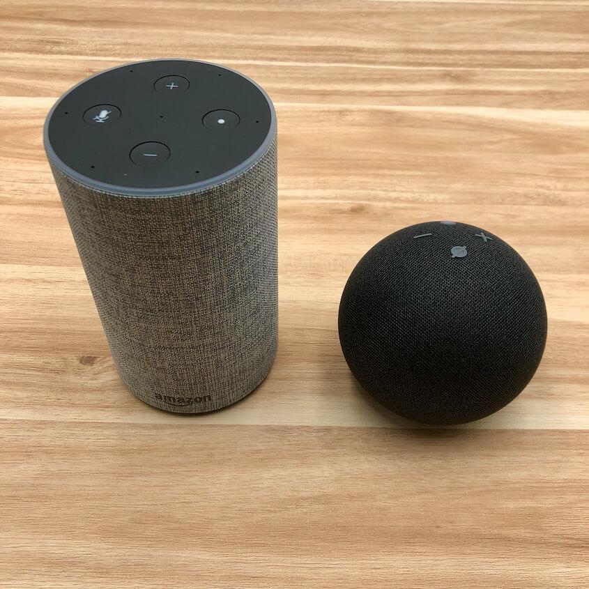Echo(第2世代)とEcho Dot(第4世代)を比較