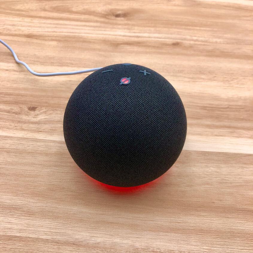 Echo Dot(第4世代):ライトリング(赤)