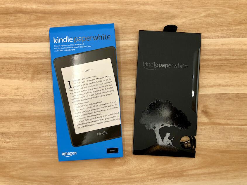 Kindle Paperwhite(第10世代):外箱・内箱